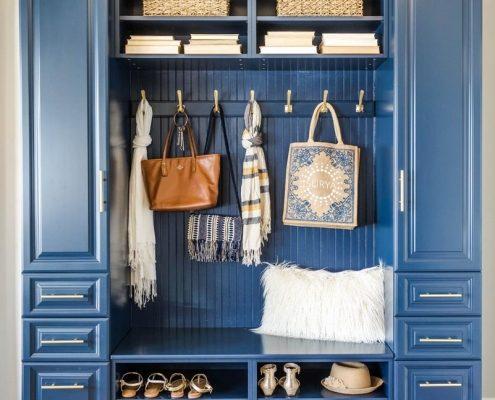 Blue Hallway Organizer