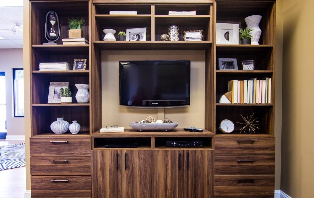 Dark Brown Stained Media Center