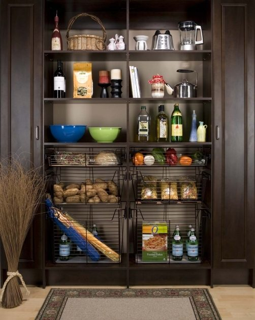 Bronze Baskets in Pantry